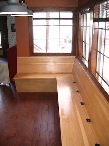 custom built kitchen bench in Bend Oregon