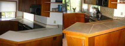 Kitchen remodel tile countertops